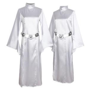 Halloween Adult Princess Leia Star Wars Fancy Dress Costume Ladies Womens UK