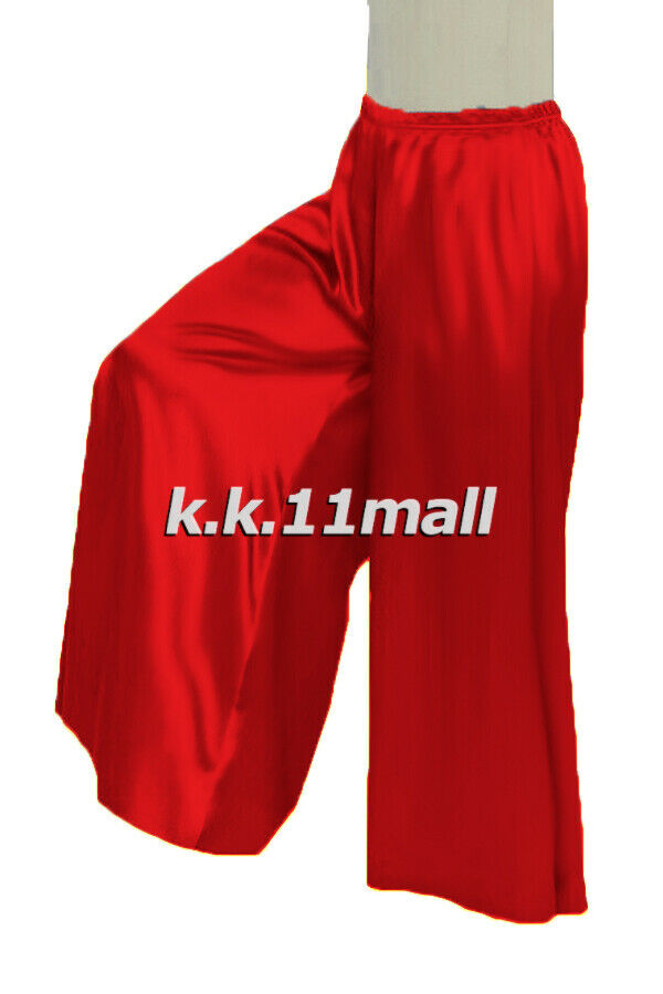 Women Palazzo Pant Casual Wear Belly Dance Satin Red Color S25