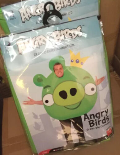 Mens Adult Green Angry Birds Comedy Stag Do Fun Fancy Dress Up Costume Outfit UK