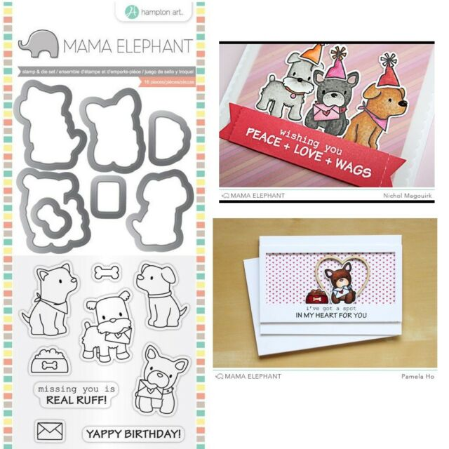 Mama Elephant Dog Stamps & Dies - Birthday, Miss You, Love Letter, Puppy Play