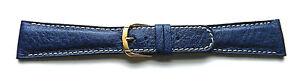 22mm-FLEURUS-GENUINE-BUFFALO-BLUE-PADDED-LEATHER-WATCH-BAND-CONTRAST-STITCH