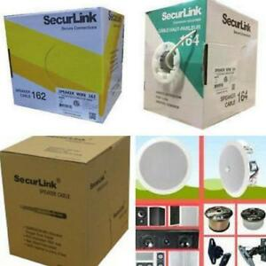 Weekly promo! SecurLink  Speaker wire , 500ft FT-4,  IN WALL SPEAKER CABLE,White/Green Color from $109 and up Toronto (GTA) Preview
