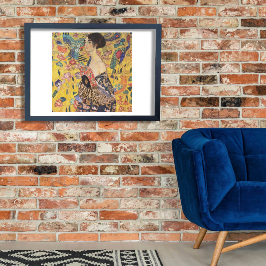 Gustav Klimt - Girl with Gelb Wall Art Poster Print
