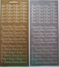 Peel Off Stickers Grand Son /& Daughter per pack of 3 JT1.1670-M