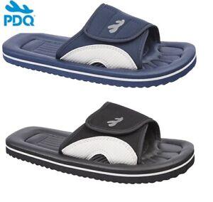 PDQ-Flip-Flops-Fasten-Mule-Navy-Black-Waterproof-Bathroom-Beach-Shower