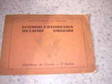 1945.documents identification armée américaine.militaire guerre 39-45