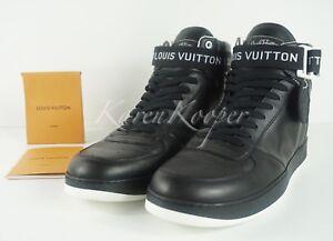 ad483626fdbb5 NEW AUTH LOUIS VUITTON LV RIVOLI MEN BLACK SNEAKERS BOOT LV 10   11 ...
