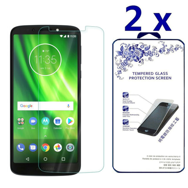 2-Pack For Motorola Moto G6 Play Tempered Glass Screen Protector