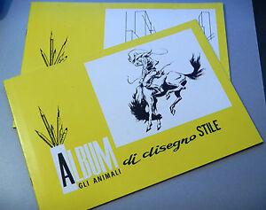 PRL-ALBUMS-DA-DISEGNO-STILE-RUVIDO-10-FOGLI-PAGINE-24-5x35-cm-1980-PROSPETTIVA
