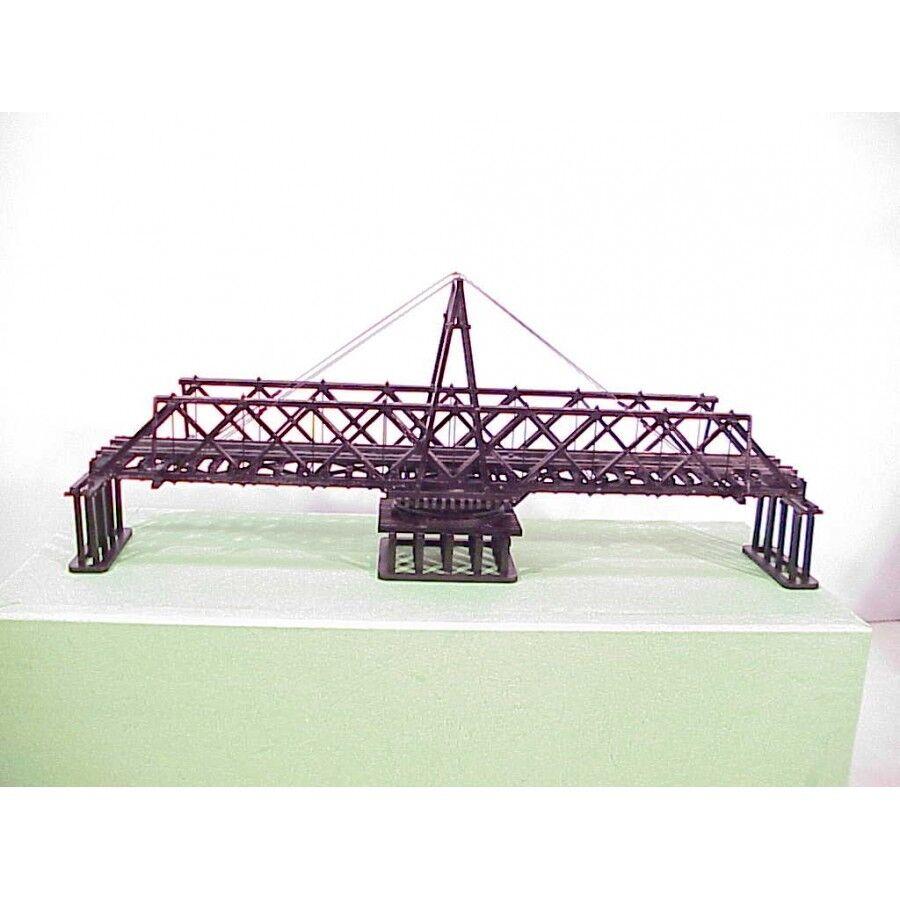 BRASS HO Ny från American skala modellllerler 105 'trä Half -Truss Svinge Bridge F  P