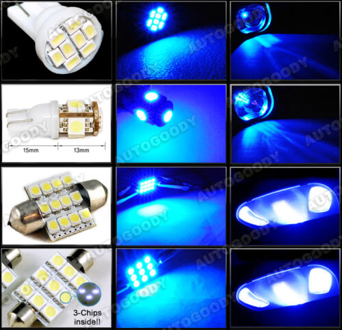 7 x Premium Blue LED Lights Interior Package Kit for Nissan Frontier 05-15 Tool