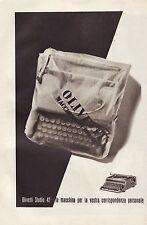 OLIVETTI STUDIO 42 IVREA MACCHINA DA SRIVERE CUSTODIA CORRISPONDENZA  1942
