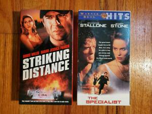 Lot2-Striking-Distance-93-The-Specialist-94-VHS-RARE-ORIGINAL-HTF-OOP-Action