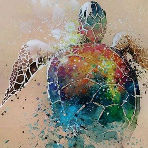 Diamond Sea Turtle Full Round Diamond Painting Cross Stitch Sea Turtle Full A5Q2