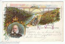 Gruss von der Kaiser-Wilhelm-Brücke AK 1899 Wilhelm I Mehrbild Litho  1602368