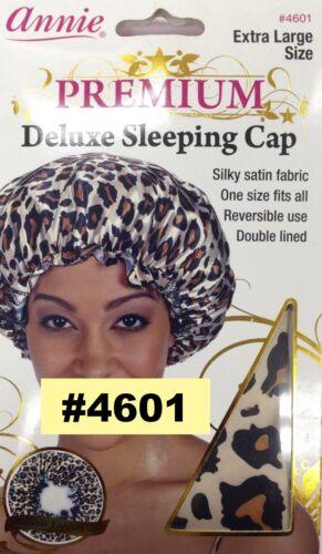 ANNIE PREMIUM DELUXE SLEEPING CAP X-LARGE LEOPARD PATTERN  SLEEPING CAP #4601