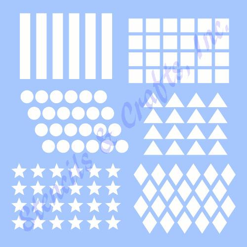 "0.30""H, 0.50""H stripes stencil template craft paint pattern background art new"