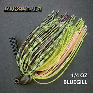 Bassdozer-PUNCH-039-N-FLIP-jig-1-4-oz-BLUEGILL-weedless-bass-jigs-lures