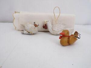 3-Bird-Christmas-Ornaments-White-Dove-Duck-Bird