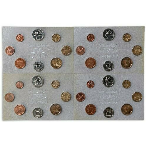 1992 South Africa Uncirculated Coin Mint Set X4 As issued by The South African Mint