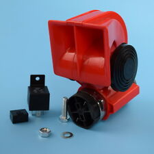 12V Motorcycle/Car Snail Compact Dual Tone Electric Pump Siren Loud Air Horn New