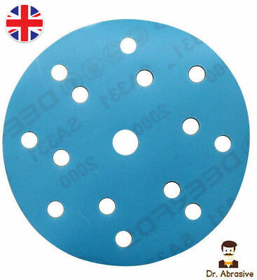 150mm Sanding Discs MIRKA 6 inch Sandpaper Pads Hook and Loop Grit  ////15 Hole////