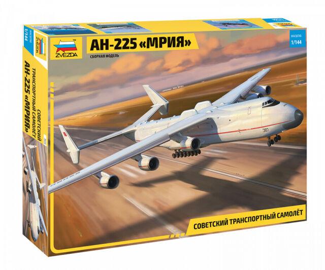 ZVEZDA 7035 SOVIET CARGO AIRCRAFT AN-225 MRIYA SCALE MODEL KIT 1/144 NEW