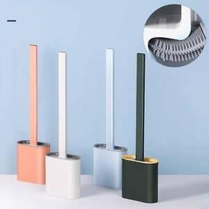 2020 silicone toilet brush with toilet brush holder
