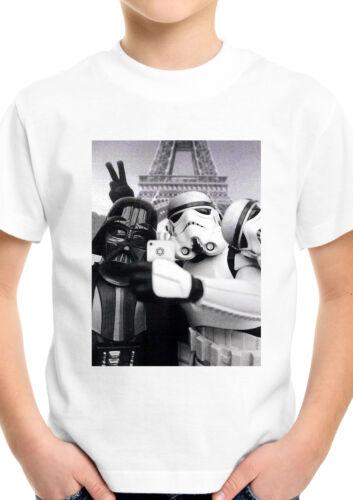 Star Wars Selfie Funny Parody Darth Vader Kids Boys Girls Unisex Top T shirt 86