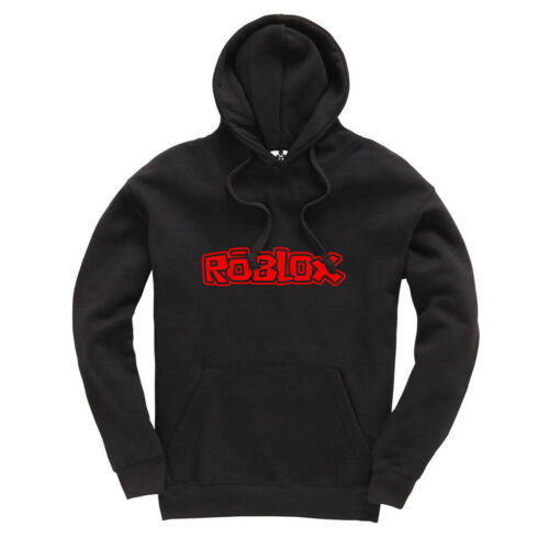 Red Print Gaming Gamer Hooded Sweatshirt Boys Girls Roblox Kids Hoodie