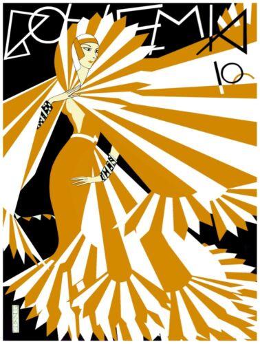 2791.Bohemia Deco Magazine Cover POSTER.Home Decoration art.Yellow Fashion Dress