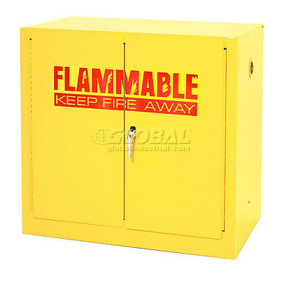 Compact Flammable Storage Cabinet 22 Gallon Capacity