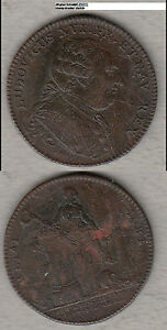 France-Louis-XVI-Medaille-Jeton-Rechenpfennig-ca-31-mm-D021-stampsdealer
