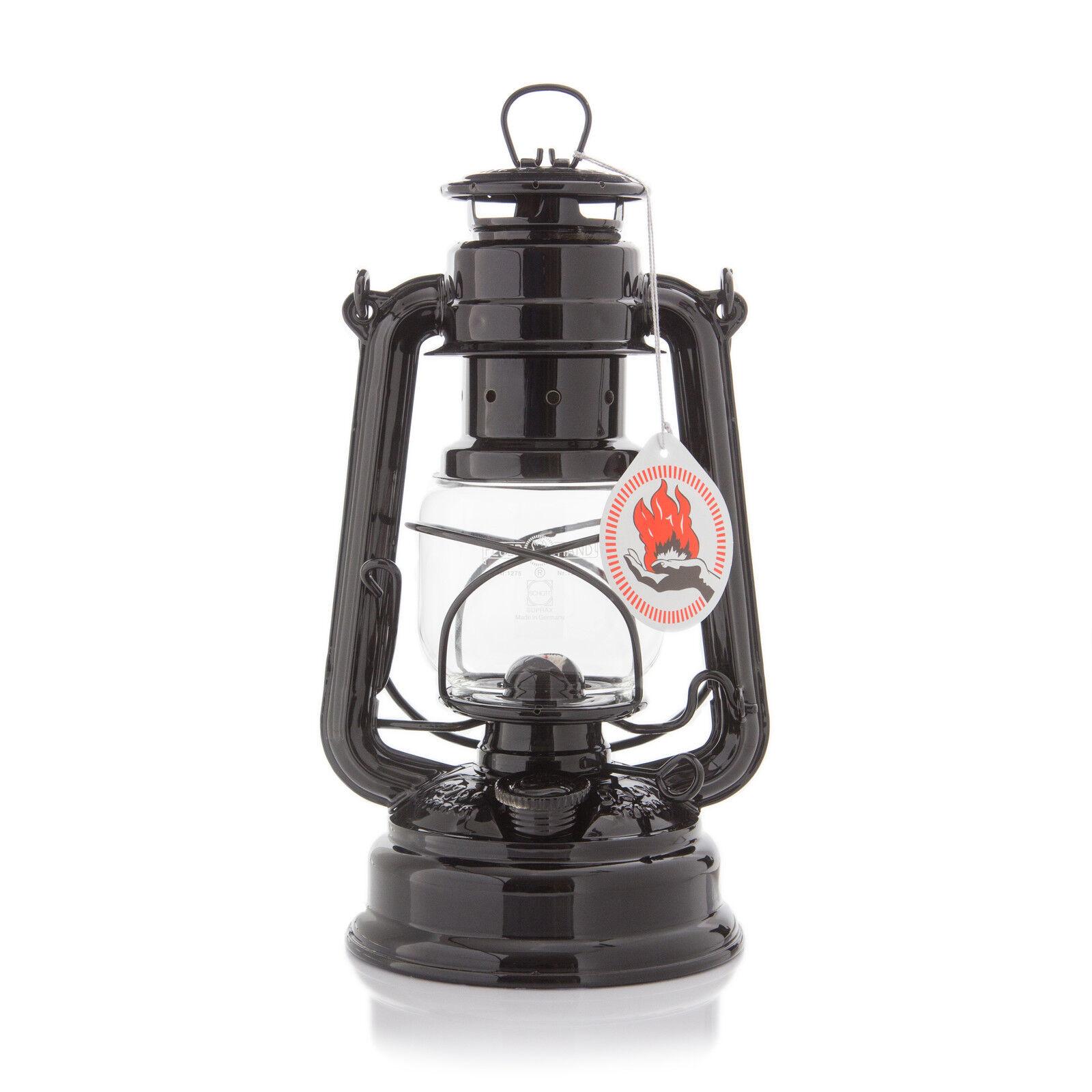 Tempesta lanterna Feuerhand 276 zincato NERO Lampada a petrolio