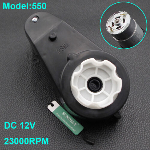 Hot 390//550 Electric Motor Gear Box For Kids Ride On Car Bike Toy Spare Parts