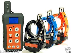 1300-Yard-Waterproof-3-Dog-Remote-Training-Shock-Collar-No-Bark-Hunting-Trainer