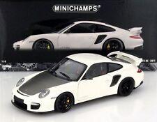 MINICHAMPS 2011 Porsche 911 GT2 RS White w/Black Wheels 1:18 *New Stock!