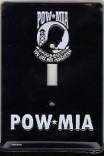 POW MIA  Embossed Switch Plate Light Switch Cover Made in USA