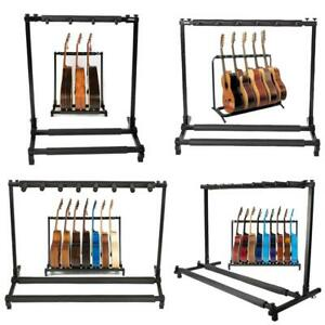 3-5-7-9-Triple-Five-Seven-Multiple-Guitar-Bass-Stand-Holder-Stage-Folding-Rack