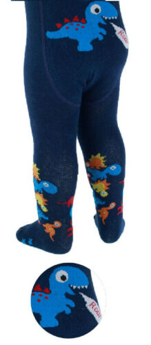 Soft Touch Baby Boys Cotton Rich Tights Vehicles or Dinosaur Designs