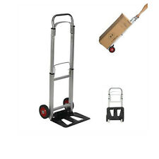 Lifedeco Heavy Duty Aluminum Luggage Cart With Wheels Hand Truck Portable Folding
