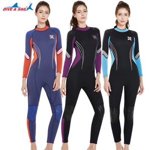 3MM Women Wetsuit Long Sleeve Full Body Suba Diving Surfing  Wet Suit Snorkeling  presenting all the latest high street fashion