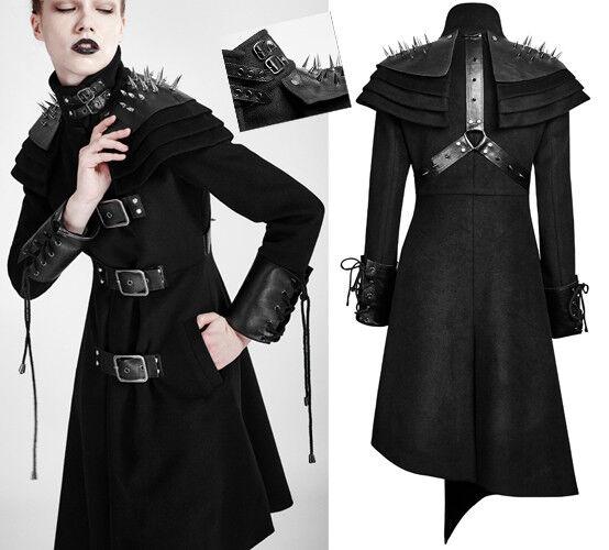 Gothic punk lolita Mantel rüstung Nagel Spike asymmetrisch Gurt Trend PunkRave