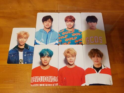 Tarjeta con fotografía Set oficial K-pop Álbum de BTS Bangtan Boys Amor Usted mismo ADN /'V/' Ver