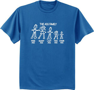 91a27001b men's big and tall t-shirt the ass family sticker funny big and tall ...