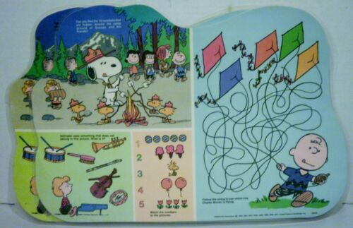 2 Peanuts Snoopy & Friends Happiness is a Friend Music Icing Placemats Swedish
