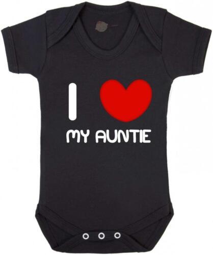 "Baby Grow Vest Gift Baby Vest Grow /""I Love my Auntie/"" Family Love"