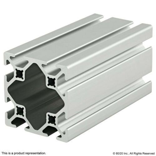 """80//20 Inc 10 Series 2"""" x 2/"""" Smooth Aluminum Extrusion Part #2020-S x 48/"""" Long N"""