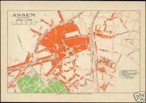 netherlands, ASSEN, City Town Detailed MAP Postcard | eBay