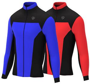Homme-Maillot-de-cyclisme-a-manches-longues-froid-Wear-Thermique-Laine-Polaire-Pour-Velo-De-Course